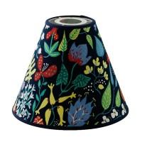 Lampskärm Herbarium Mörkblå Toppring - 19