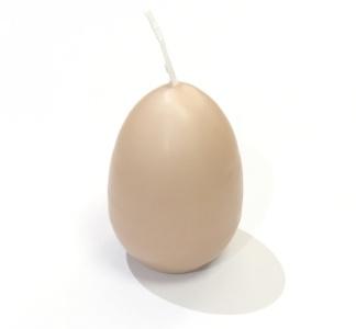 Äggljus - Hönsägg Brun matt 5x7 cm