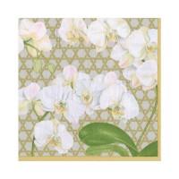 Pappersservett Caspari - Winter Orchide