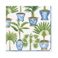 Pappersservett Caspari - Potted Palms