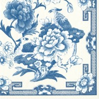 Pappersservett Caspari - Blue & White