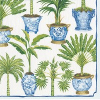 Pappersservett Caspari - Potted Palms