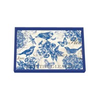 Decoupage Bricka Michel Design Works - Indigo Cotton