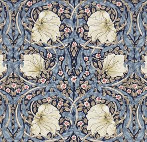 Tyg William Morris - Pimpernel - William Morris Pimpernel Blå