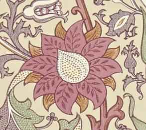 Tapet William Morris - Pink & Rose - William Morris Pink & Rose Rosa