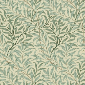 Gardinlängd William Morris - Willow Bough Grön - Längd < 1,85 WB Grön