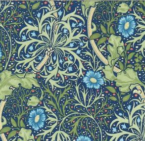 Tyg William Morris - Seaweed - Tyg William Morris Seaweed BlåGul