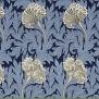 Tyg William Morris - Tulip - William Morris Tulip Mörkblå