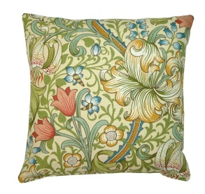 Kudde William Morris - Golden Lily Cream