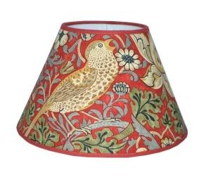 Lampskärm William Morris - Strawberry Thief Röd Rund 25 - Lampskärm William Morris - Strawberry Thief Röd Rund 25