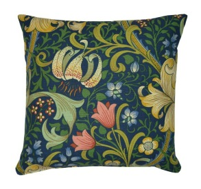 Kudde William Morris - Golden Lily Blå