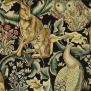 Tyg William Morris - Forest Sammet - Tyg William Morris Forest Svart