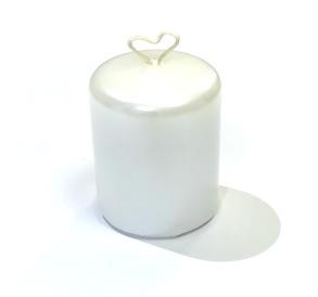 Bordsljus 4x5 cm Vit pärlemor