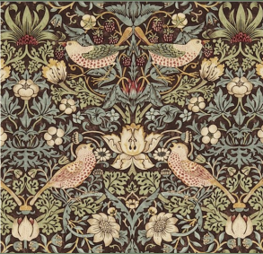 Gardinlängd William Morris - Strawberry Thief Brun - Längd < 1,90 SBT Brun