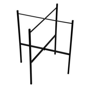 Brickstativ stål 46 cm - 46 cm - Svart