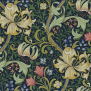 Tyg William Morris - Golden Lily - Golden Lily Mörkblå