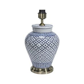 Fong Hong Lampfot Porslin - Lill Blå/Vit 38 cm