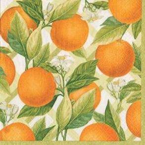 Pappersservett Caspari -  Apelsin