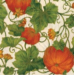 Pappersservett Caspari - Pumpkins