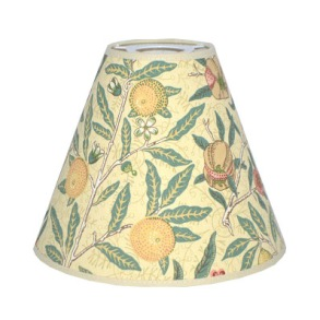 Lampskärm William Morris - Fruit Minor med Toppring 19 - Lampskärm William Morris - Fruit Minor med Toppring 19