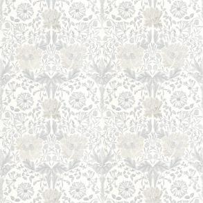 Tyg Pure William Morris - Honeysuckle & Tulip Embroidery - Tyg Pure William Morris - Honeysuckle & Tulip Embroidery Grey