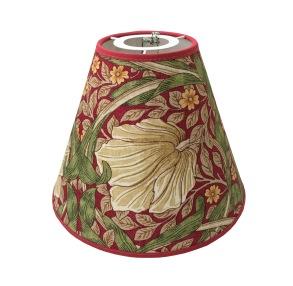 Lampskärm William Morris - Pimpernel med Toppring 19 Röd