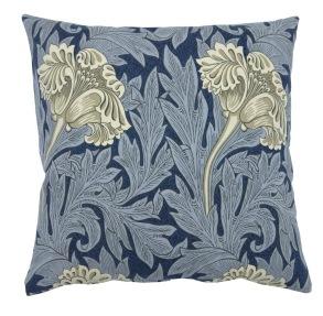 Kudde William Morris - Tulip Mörkblå