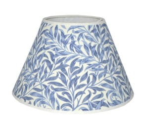 Lampskärm William Morris - Willow Bough Minor Blå Rund 25 - Lampskärm William Morris - Willow Bough Minor Blå Rund 25