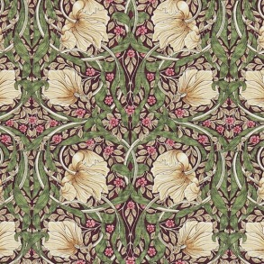 Gardinlängd William Morris - Pimpernel Aubergin
