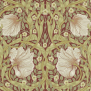 Tapet William Morris - Pimpernel - Tapet William Morris - Pimpernel Brick/Olive