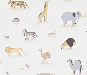 Tapet Kids - Two By Two - Kids Wallpaper - Two By Two Neutral