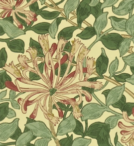 Tapet William Morris - Honeysuckle - William Morris Honeysuckle Mörk