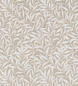 Tyg Pure William Morris - Willow Bough Broderad - Tyg Pure William Morris - Willow Bough Broderad BeigeVit