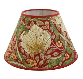 Lampskärm William Morris - Pimpernel Röd Rund 25 - Lampskärm William Morris - Pimpernel Röd Rund 25