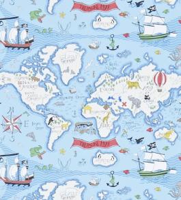Tapet Kids - Treasure map - Tapet Kids - Treasure map Blå