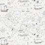 Tapet Kids - Treasure map - Tapet Kids - Treasure map Grå