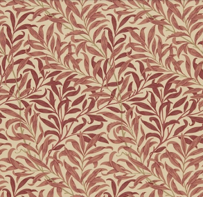 Gardinlängd William Morris - Willow Bough Röd - Längd < 1,85 WB Röd