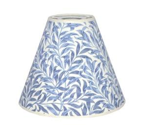 Lampskärm William Morris - Willow Bough Minor Blå med Toppring 19 - ampskärm William Morris - Willow Bough Minor Blå med Toppring 19