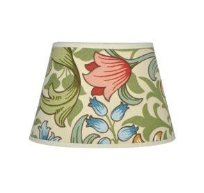Lampskärm William Morris - Golden Lily Creme Oval 20 - Lampskärm William Morris - Golden Lily Oval 20