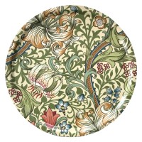 Rund bricka 46 William Morris - Golden Lily Creme