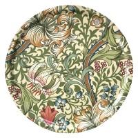 Rund bricka 46 William Morris - Golden Lily Creme