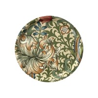 Rund bricka 31 William Morris - Golden Lily Creme