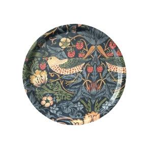 Rund bricka 31 William Morris - Strawberry Thief Mörkblå