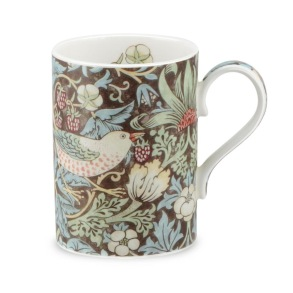 Mugg William Morris - Strawberry Thief Brun - Mugg William Morris - Strawberry Thief Brun