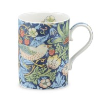 Mugg William Morris - Strawberry Thief Blå