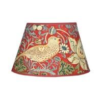 Lampskärm William Morris - Strawberry Thief Röd Oval 20
