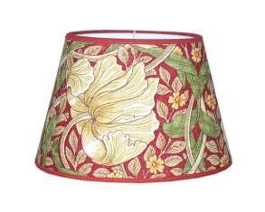 Lampskärm William Morris - Pimpernel Röd oval 25 - Lampskärm William Morris - Pimpernel Röd oval 25