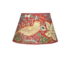 Lampskärm William Morris - Strawberry Thief Röd Oval 20 - Lampskärm William Morris - Strawberry Thief Röd Oval 20