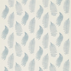 Tyg Sanderson - Fern Embroidery - Tyg Sanderson - Fern Embroidery Blue