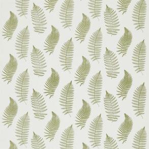 Tyg Sanderson - Fern Embroidery - Tyg Sanderson - Fern Embroidery Moss